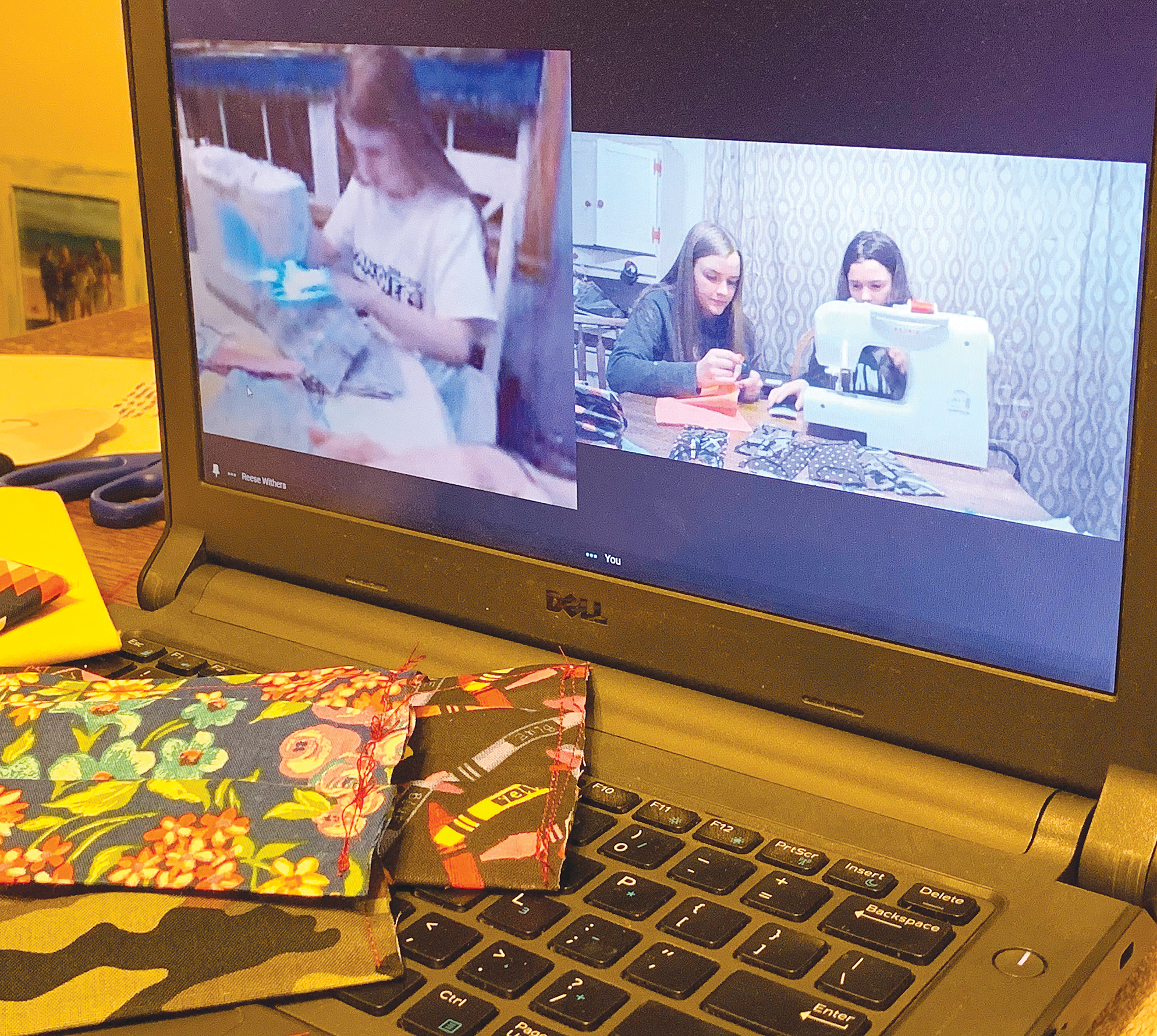 Cousins turn to mask making to help others