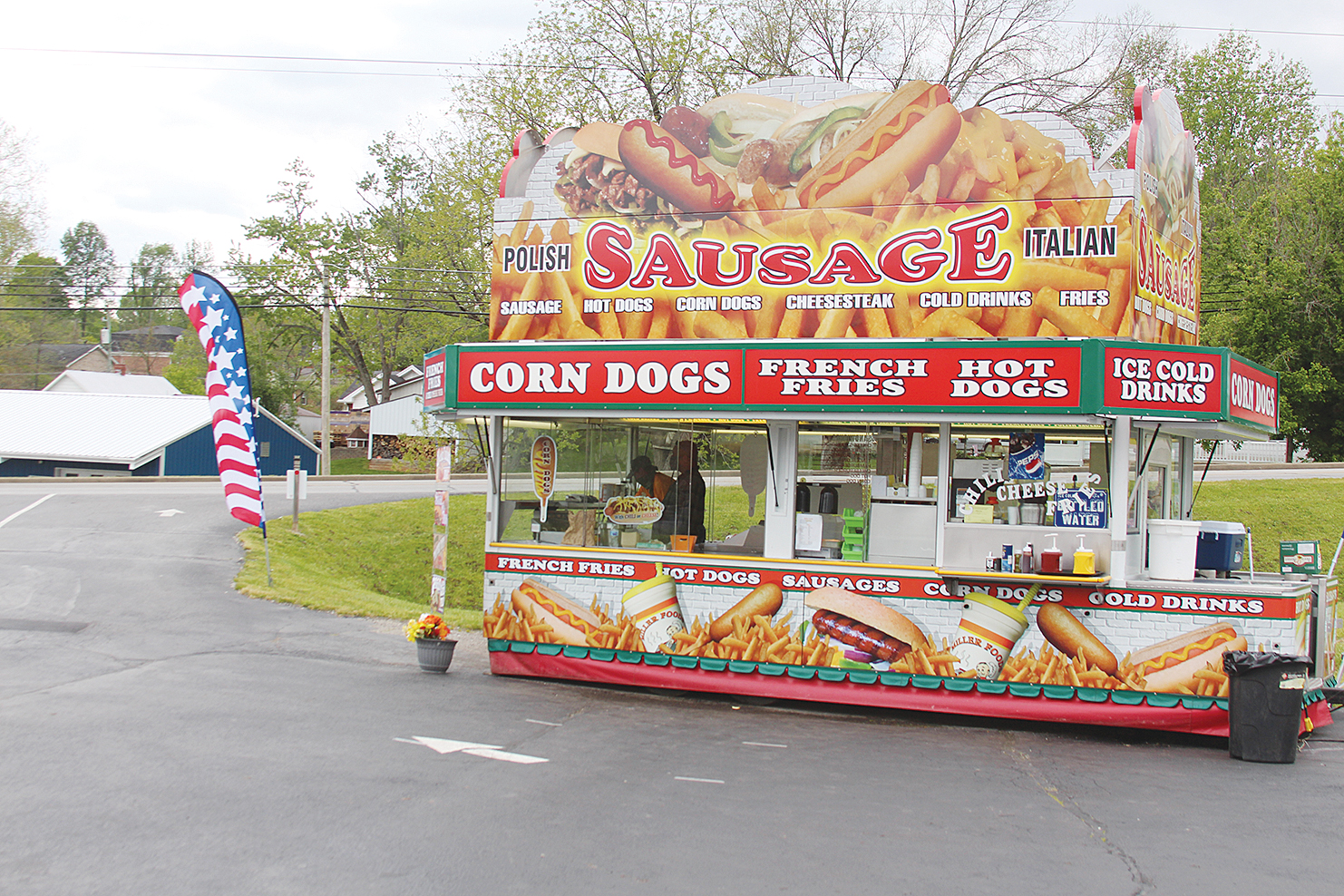 Concessionaire sets up in church lot