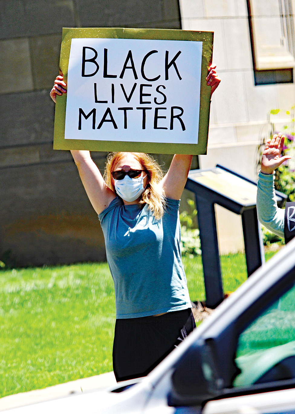 Protesters denounce racism, violence