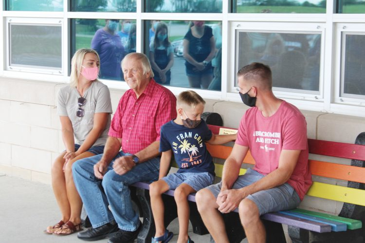 Bench dedicated to former MES custodian