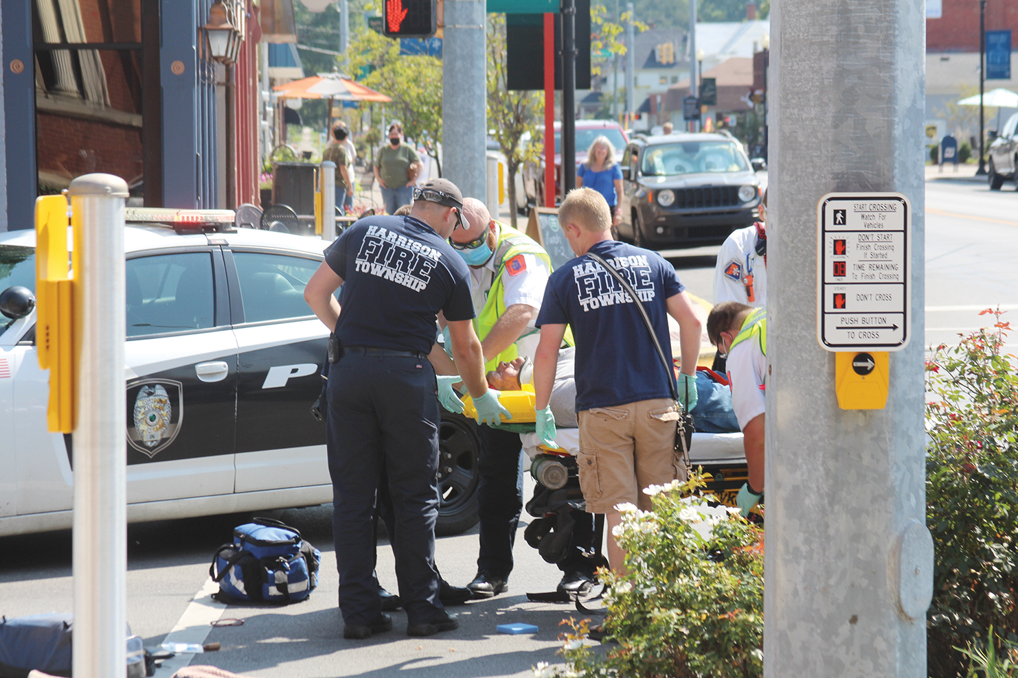 Moped driver injured