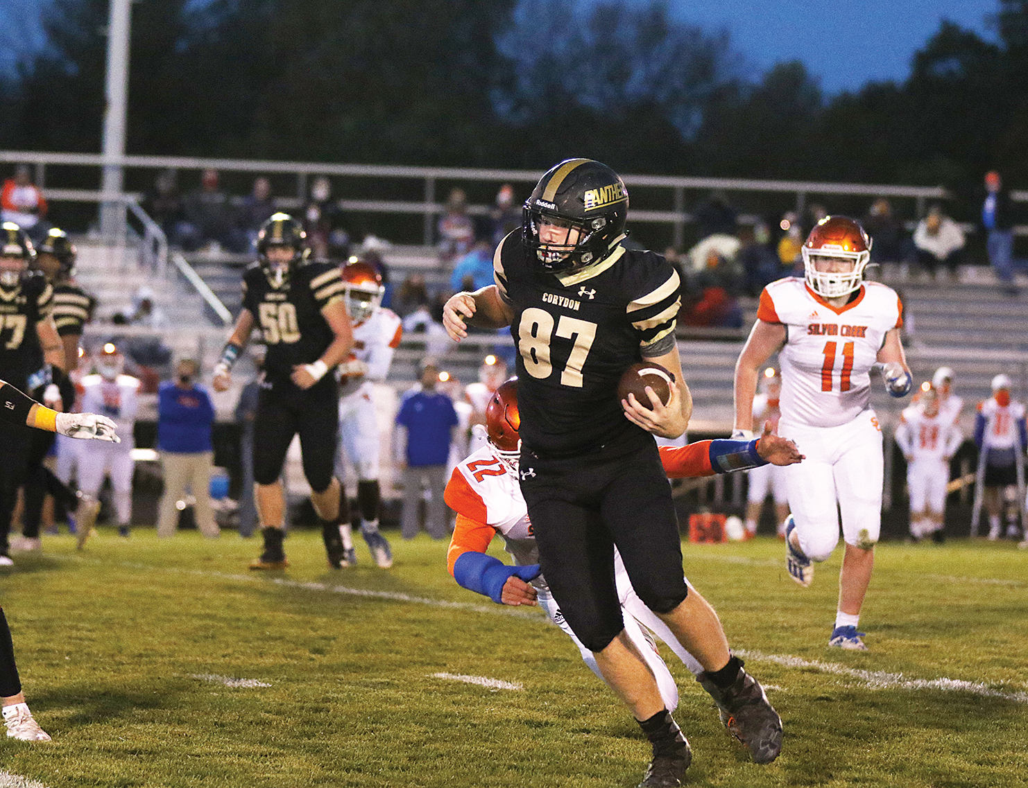 Panthers show 'spurts' of good football, fall to Dragons