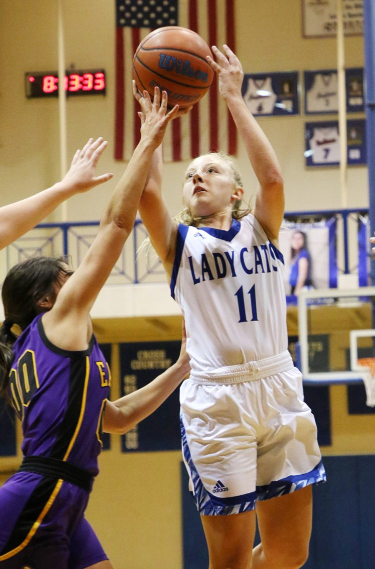 Lady Cats ground Eastern, 53-50