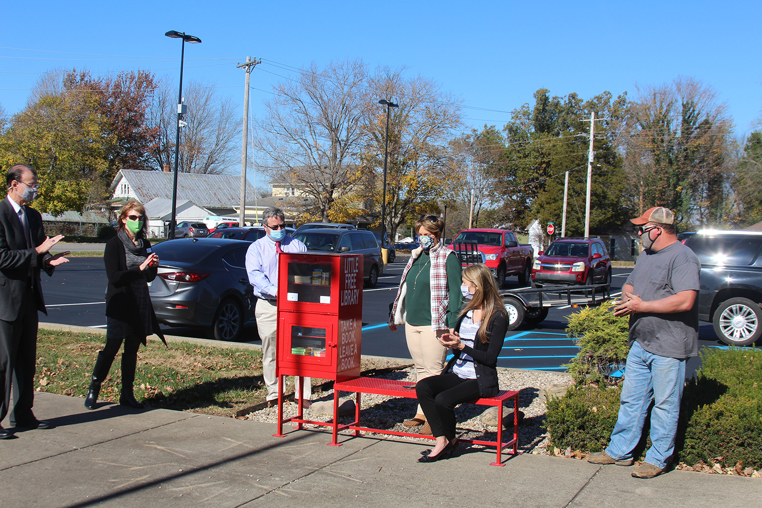Little Free Library lands at NMES