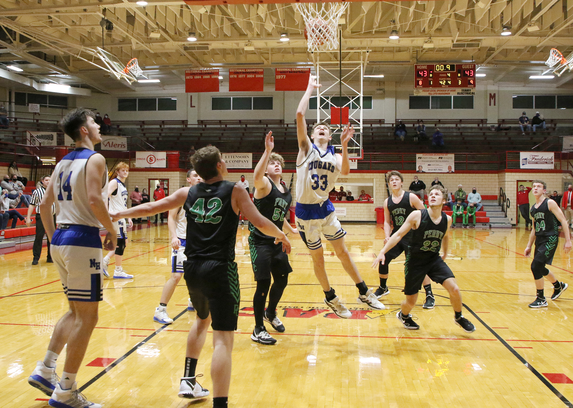 North Harrison upends Perry Central 45-43