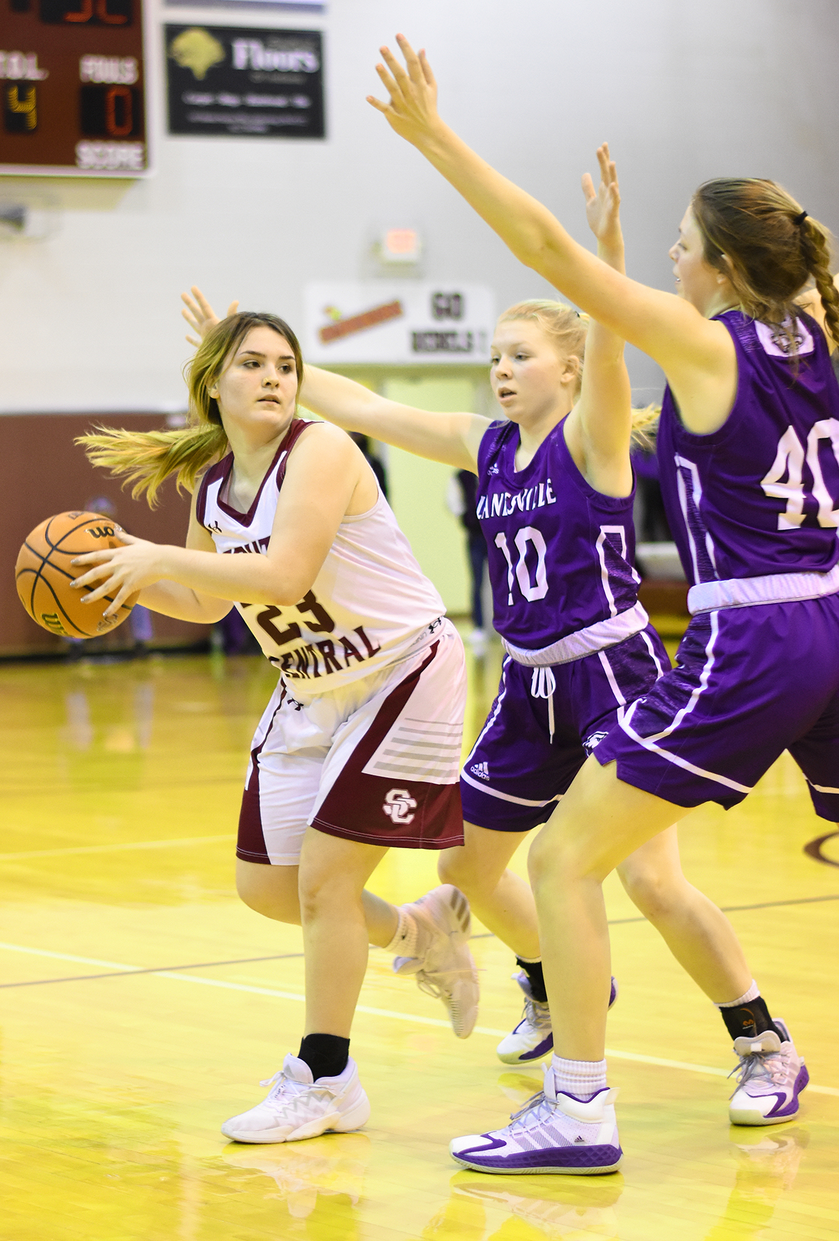 Lady Rebels no match for Adams, Lanesville