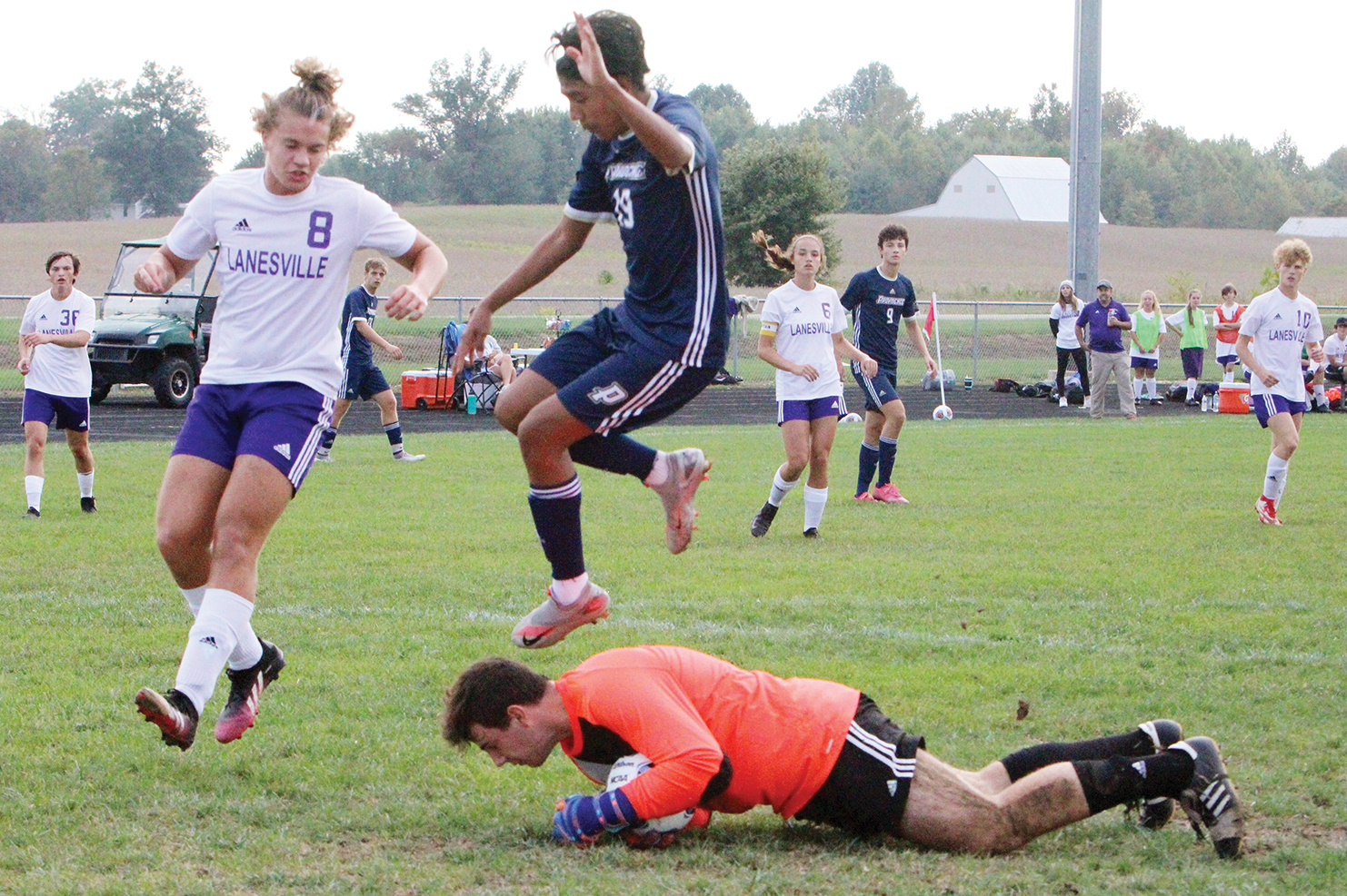 Eagles fade late against defending 1A champs